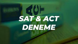 SAT ve ACT Deneme